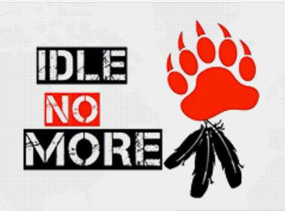 Logo del movimiento Idle No More. Foto cortesía Idle No More